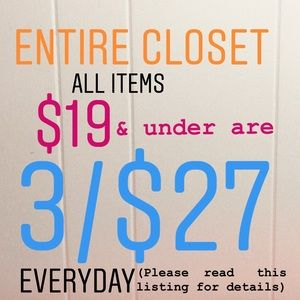3/$27 Bundles Everyday!!